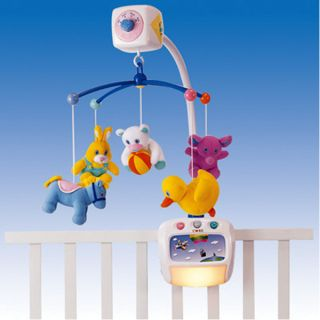 Merry -Go-Round Musical Mobile With Light