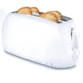 Morrisons Savers 4 Slice Toaster - White