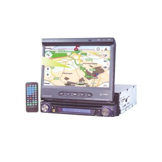 "Car Dvd Player With 7"" Tft Monitor & Gps"