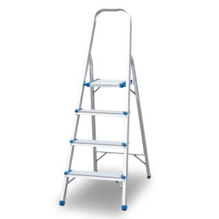 Aluminium Foldable Ladder 4 Steps 1Mm