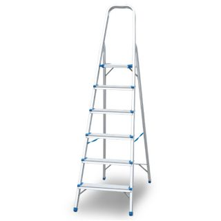 Aluminium Foldable Ladder 6 Steps 1Mm
