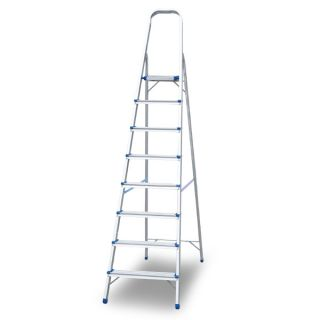 Aluminium Foldable Ladder 8 Steps 1Mm