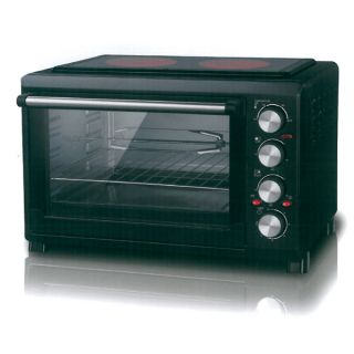 Electric Oven 38L With 2 Ceramic Hobs